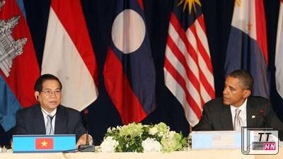 Chủ tịch nước Nguyễn Minh Triết và Tổng thống Hoa Kỳ Barack Obama